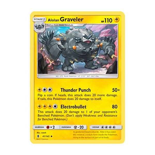 Pokémon TCG: Graveler de Alola (41/145) - SM2 Guardiões Ascendentes