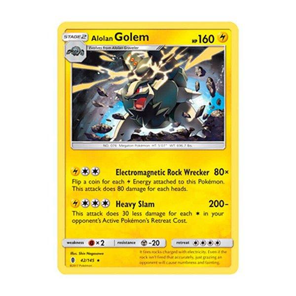Pokémon TCG: Golem de Alola (42/145) - SM2 Guardiões Ascendentes