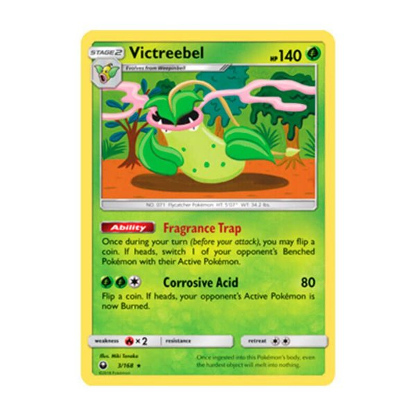 Pokémon TCG: Victreebel (3/168) - SM7 Tempestade Celestial