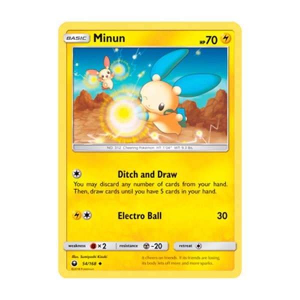 Pokémon TCG: Minun (54/168) - SM7 Tempestade Celestial