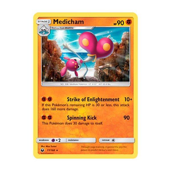 Pokémon TCG: Medicham (77/168) - SM7 Tempestade Celestial