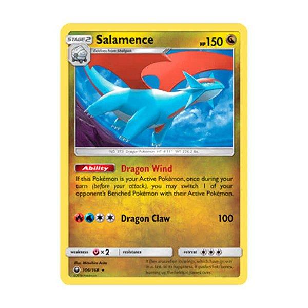 Pokémon TCG: Salamence (106/168) - SM7 Tempestade Celestial