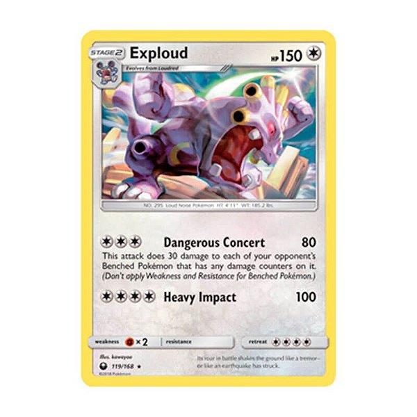 Pokémon TCG: Exploud (119/168) - SM7 Tempestade Celestial