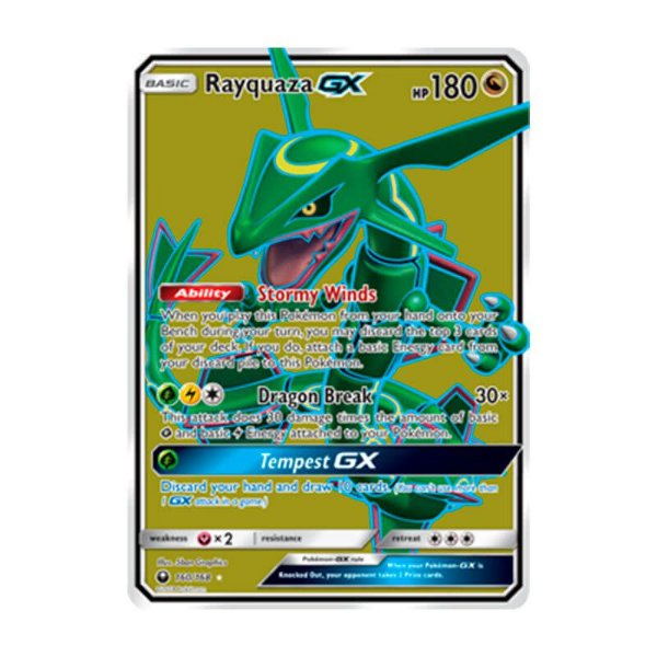 Pokémon TCG: Rayquaza GX (160/168) - SM7 Tempestade Celestial