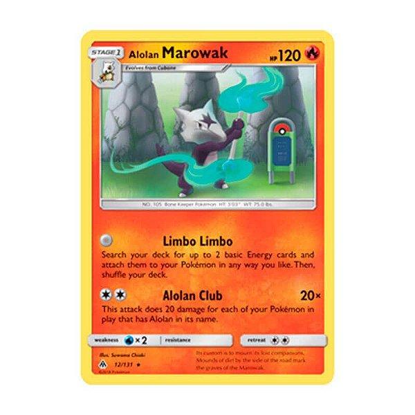 Pokémon TCG: Marowak de Alola (12/131) - SM6 Luz Proibida