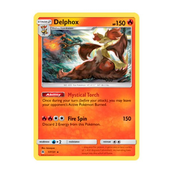 Pokémon TCG: Delphox (17/131) - SM6 Luz Proibida