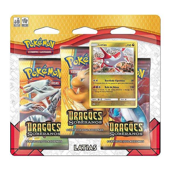 Pokémon TCG: Triple Pack SM7.5 Dragões Soberanos - Latias