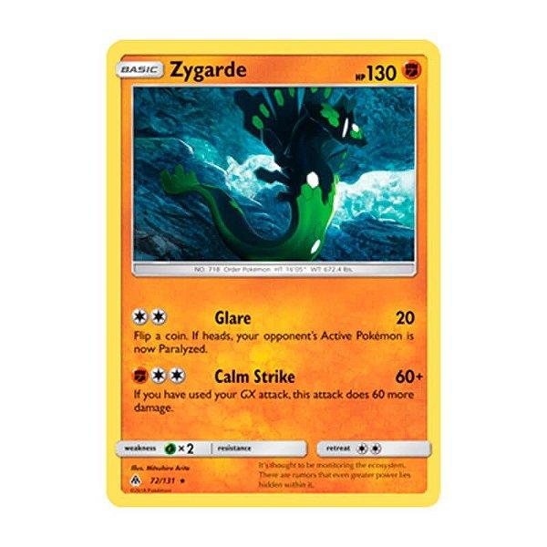 Pokémon TCG: Zygarde (72/131) - SM6 Luz Proibida