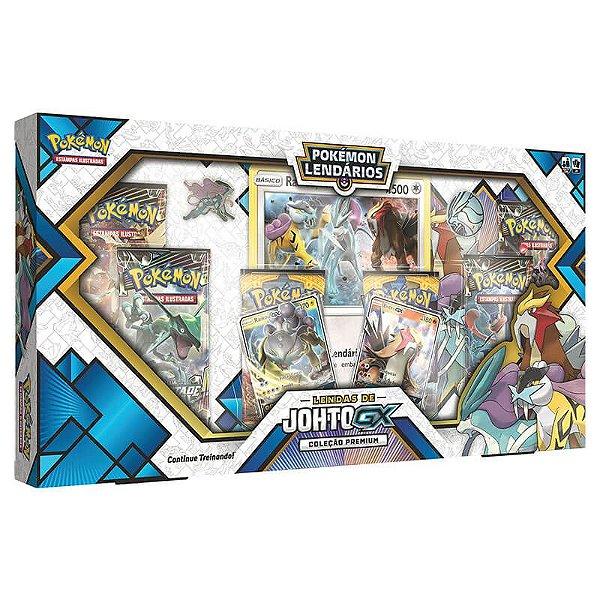 Pokémon TCG: Box Pokémon Lendários Coleção Premium - Lendas de Johto GX
