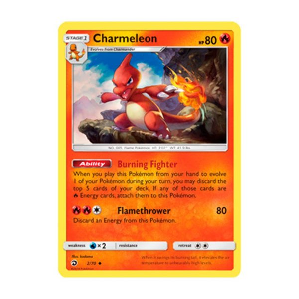 Pokémon TCG: Charmeleon (2/70) - SM7.5 Dragões Soberanos