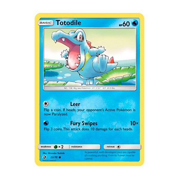 Pokémon TCG: Totodile (22/70) - SM7.5 Dragões Soberanos
