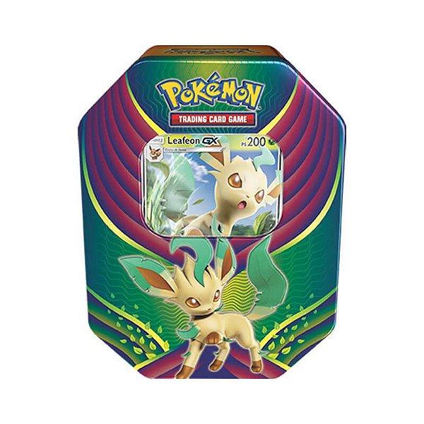 Pokémon TCG: Lata Colecionável Celebração de Evolução - Leafeon GX