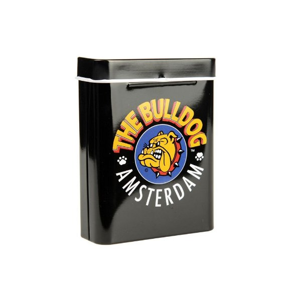 Cigarreira Case Black Box com Logo The Bulldog Amsterdam em Metal GH00130