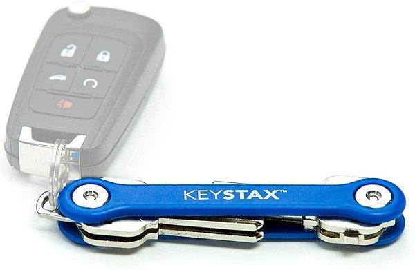 KeyStax Porta-chaves e organizador de chaves Keysmart Azul (até 8 chaves)