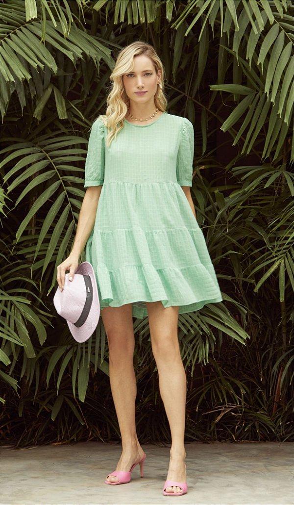 Vestido Maria Crepe Floripa Verde - DECOTE DLX