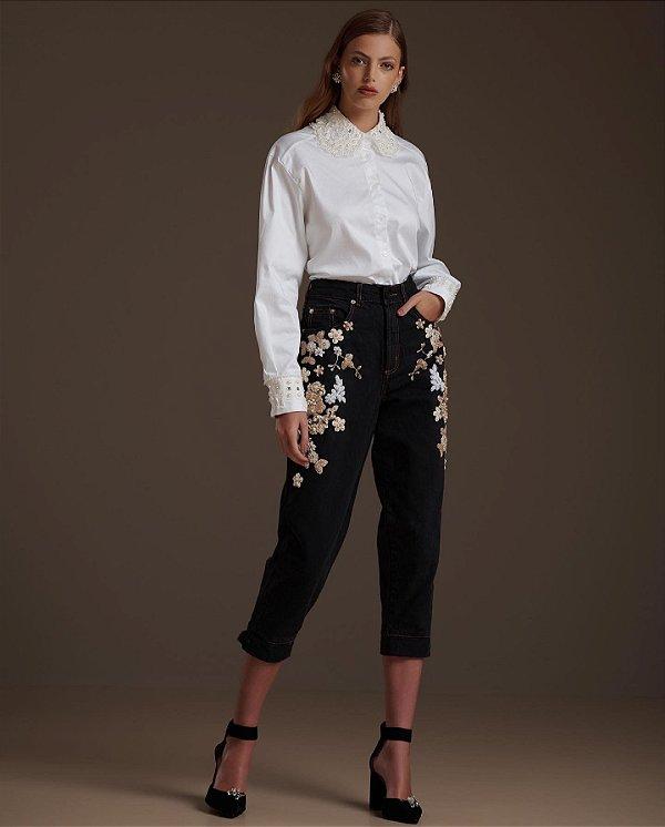 Calça Jeans Marina Metalizado 36 - DENISE VALADARES