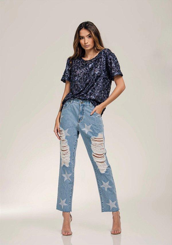 Calça Jeans Estrela - LOTTUS