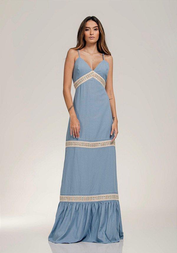 Vestido Linho Entremeio - LOTTUS