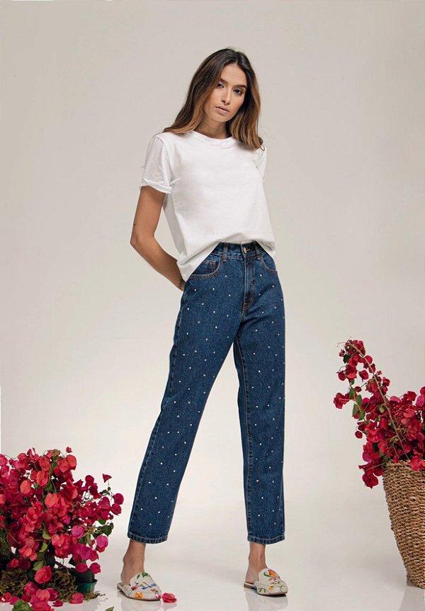 Calça Jeans Strass - LOTTUS