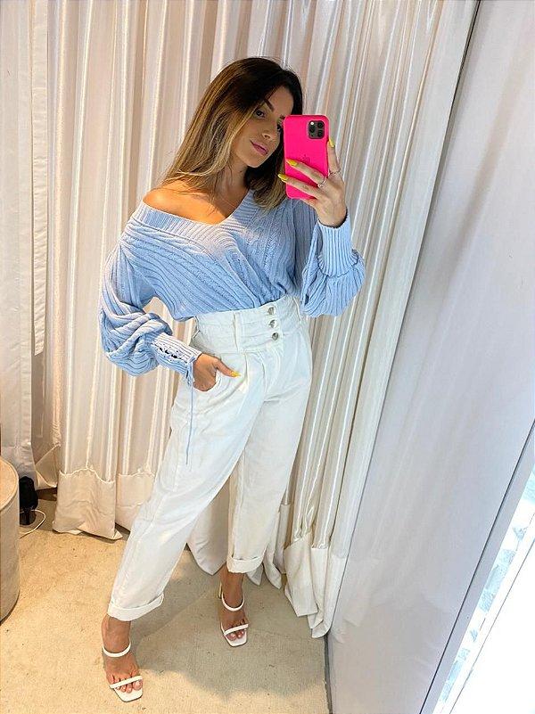 Blusa Tricot Ceci Azul Nuvem - SHW