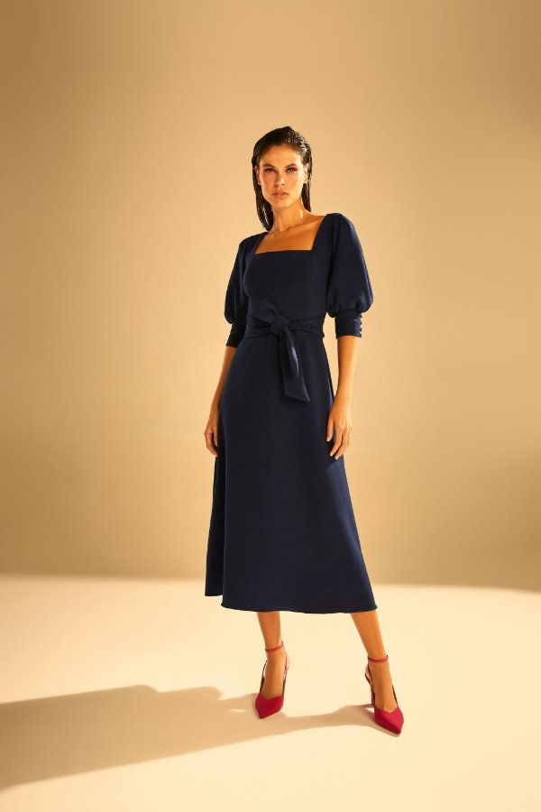 Vestido Romã Marinho - LENNA