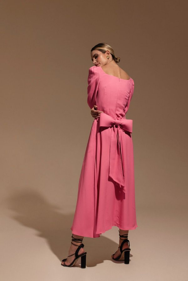 Vestido Cereja Rosa - LENNA