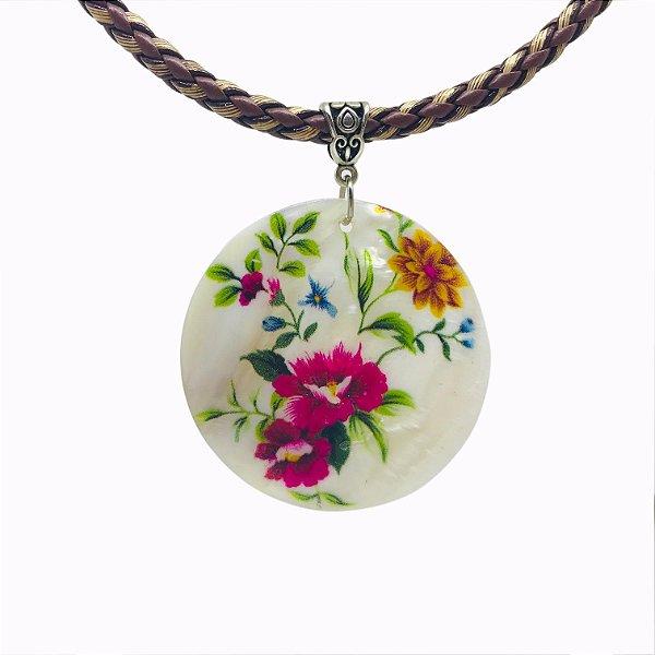 Colar Madrepérola - Floral