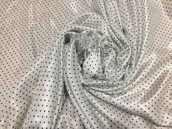 Tecido Cetim Branco Poá Mini 1,40x1,00m