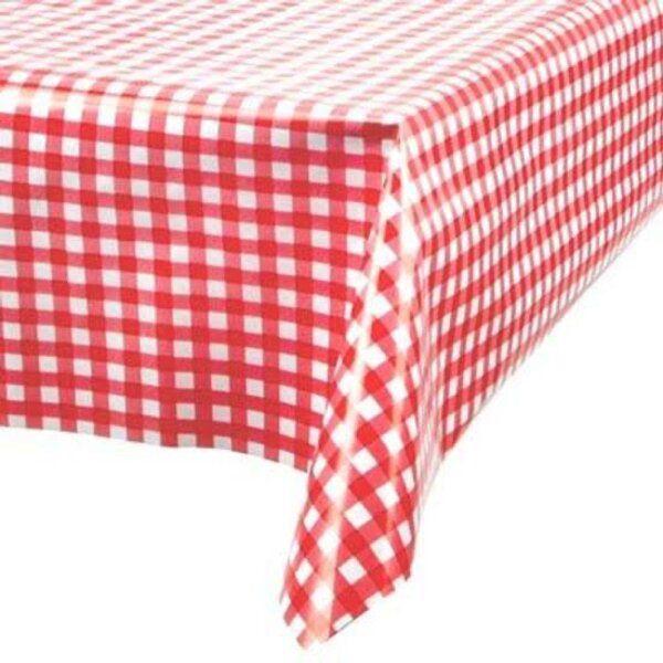 Toalha de Mesa Plástica Térmica Xadrez Vermelho 1,40x1,00m cozinha decoração
