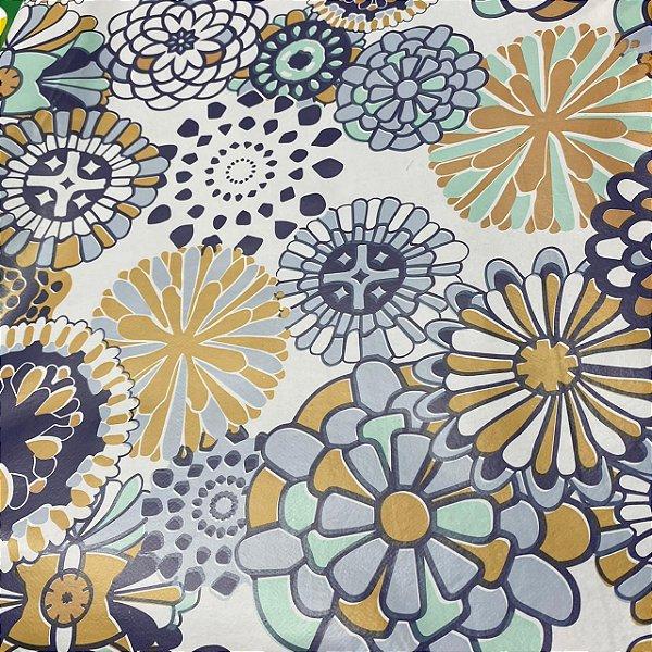 Toalha de mesa Plástica Térmica Floral 1,40x1,00 Cozinha Decoração