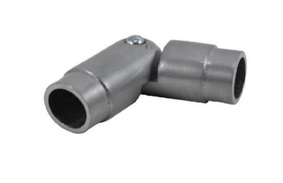 Cotovelo Articulado 28mm Aço Escovado