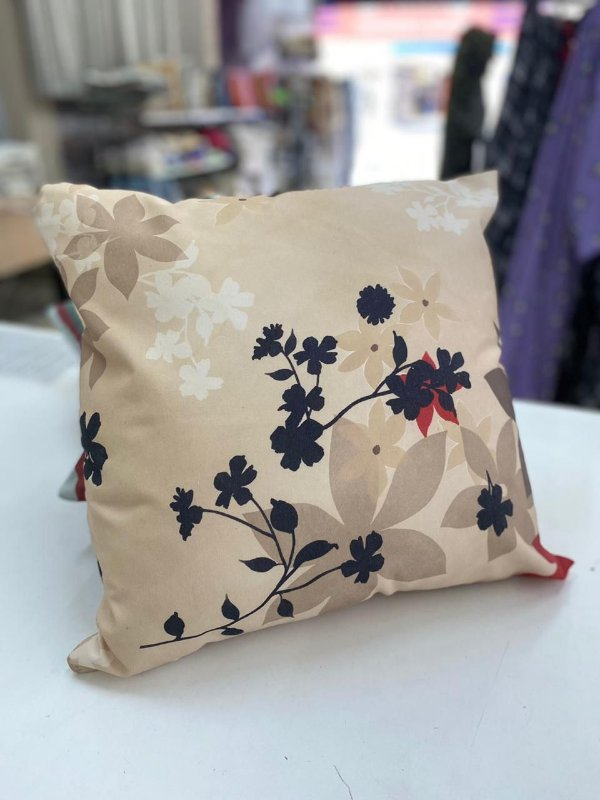 Almofada Estampada Floral Fundo Marfim