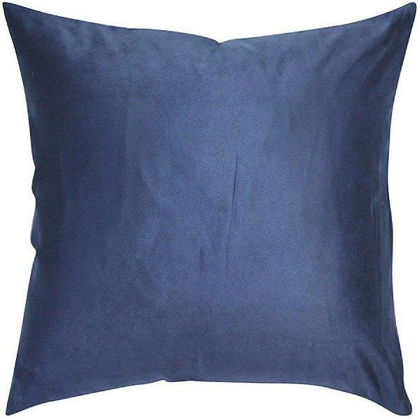 Almofada Suede Lisa Azul
