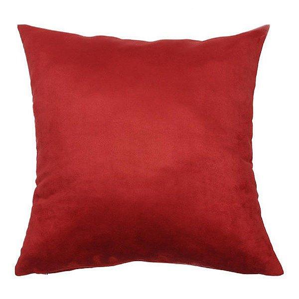 Almofada Suede Lisa Vermelha