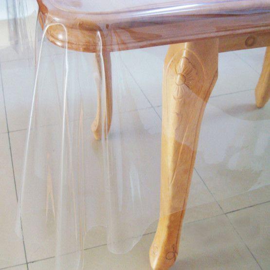 Toalha de mesa transparente Plástica 1,40x1,00 espessura 0.20
