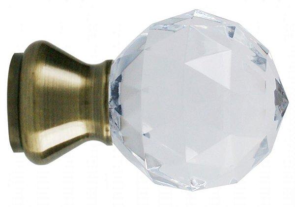 Ponteira Galax Cristal Base Ouro Velho - 28mm