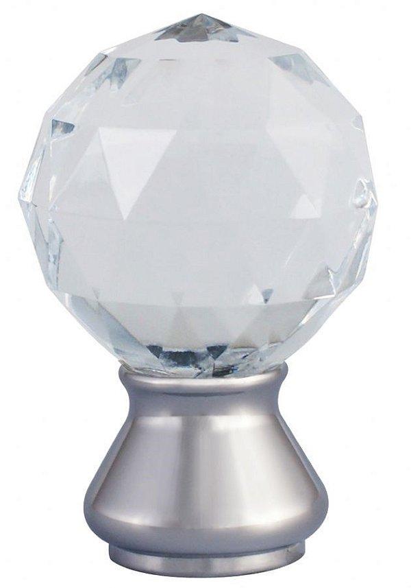 Ponteira Galax Cristal Base Aço Escovado