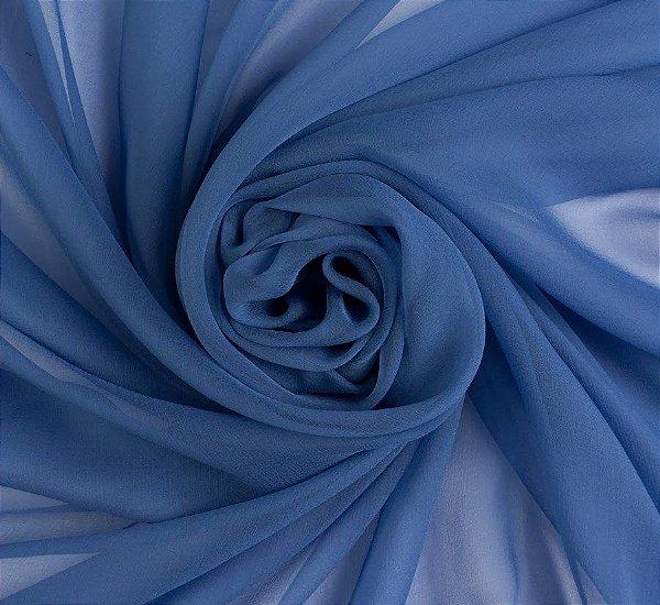 Voil Liso Azul Marinho