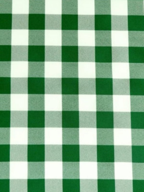 Tecido Xadrez Poliester Verde