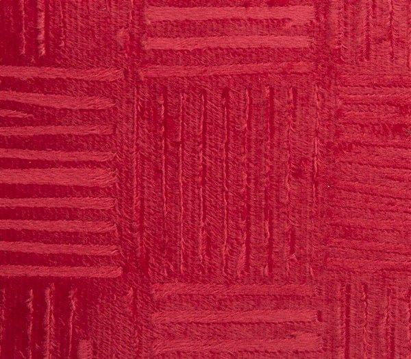 Veludo 3D Quadriculado Vermelho