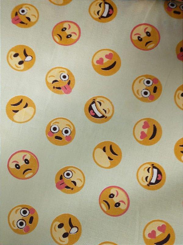 Tricoline Emoji Branco