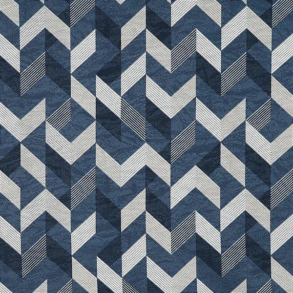 Tecido karsten Marble 36 Jacquard Kale Marinho-Azul - Largura 1,40m - MARB-36
