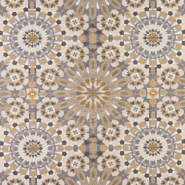 Tecido karsten Marble 26 Jacquard Zellige Cinza-Amarelo - Largura 1,40m - MARB-26
