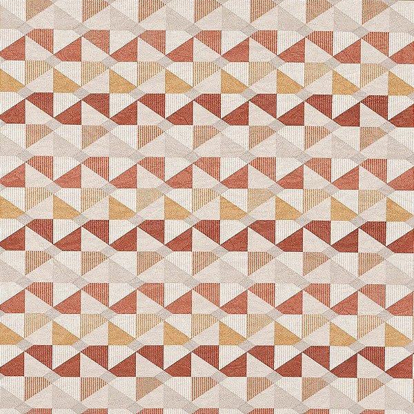 Tecido karsten Marble 02 Jacquard catavento terracota - Largura 1,40m - MARB-02