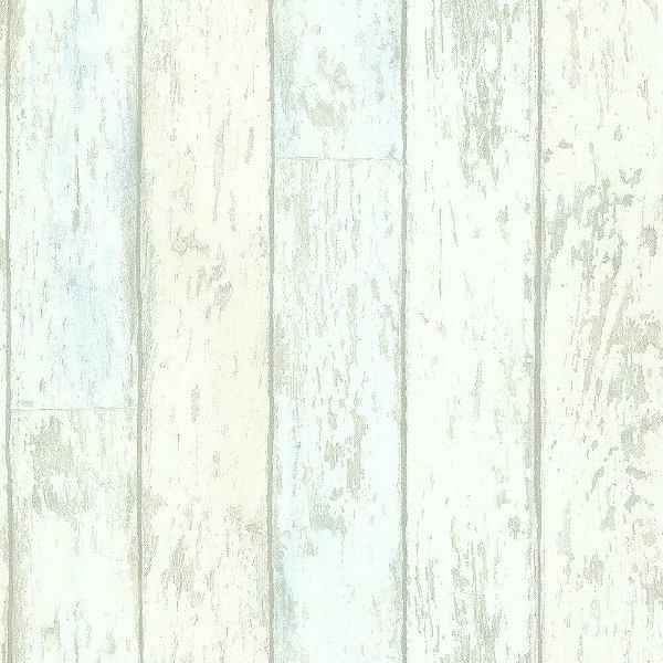 Papel De Parede Marfim com Azul Vinilico Garden SZ002718