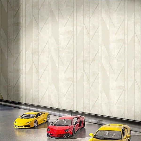 Papel de Parede Off white Geométrico Lamborghini Z44829