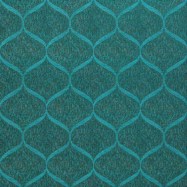 Tecido Para Sofá e Estofado Jacquad Impermeabilizado Panama 146 Geometrico Preto Tifanny - Largura 1,40m - PN-146