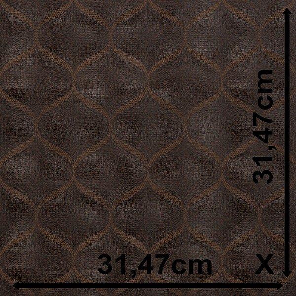 Tecido Para Sofá e Estofado Jacquad Impermeabilizado Panama 134 Geometrico Marrom Preto - Largura 1,40m - PN-134