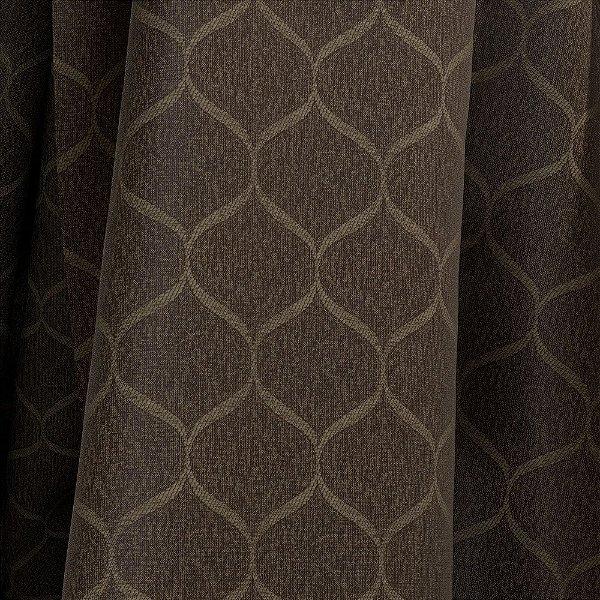 Tecido Para Sofá e Estofado Jacquad Impermeabilizado Panama 118 Geometrico Marrom - Largura 1,40m - PN-118
