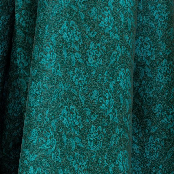 Tecido Para Sofá e Estofado Jacquad Impermeabilizado Panama 145 Flor Preto Tifanny - Largura 1,40m - PN-145
